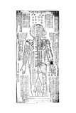 Acupuncture Chart for the Rear of the Body, Japanese, 19th Century Giclee Print