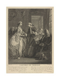 Marriage Contract, 18th Century Giclee Print by Charles Eisen