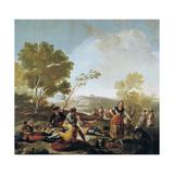 A Picnic, 1776 Giclee Print by Francisco de Goya