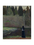 The Nightingale Is Singing, 1918 Giclee Print by Mikhail Vasilyevich Nesterov