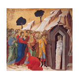 The Raising of Lazarus Giclee Print by Duccio di Buoninsegna
