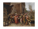 Croesus Showing Solon His Treasures Giclee Print by Frans Francken the Younger