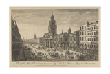 View of the Royal Exchange London, 1751 Giclee Print by Thomas Bowles
