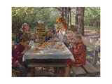 The Teacher's Guests Giclee Print by Nikolai Petrovich Bogdanov-Belsky