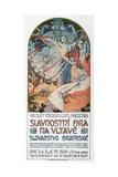 8th Sokol Festival in Prague, 1925 Giclee Print by Alphonse Mucha