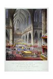 Coronation of Queen Victoria in Westminster Abbey, London, 1838 Giclee Print