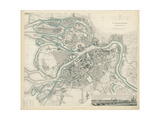Map of Petersburg, 1834 Giclee Print by W.B. Clarke