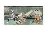 Scene at Kabuki Theatre, 19th Century Giclee Print