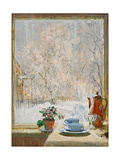 Through the Window in Winter, 1945 Giclee Print by Konstantin Ivanovich Gorbatov