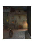 Evening Street Giclee Print by Jakub Schikaneder