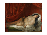 An Odalisque in Red Interior, Early 19th C Giclee Print by Natale Schiavoni