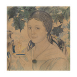 Portrait of Maria Shostakovich, 1922 Giclee Print by Boris Michaylovich Kustodiev