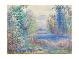 River Landscape, 1890 Giclee Print by Pierre-Auguste Renoir