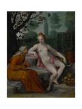 Vertumnus and Pomona, C. 1605 Lámina giclée por Abraham Bloemaert
