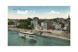 Bonn and the River Rhine, 20th Century Giclee Print