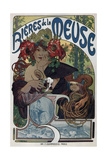 Poster for the Bieres De La Meuse, 1897 Giclee Print by Alphonse Mucha