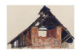 Old Gable, 1913 Giclee Print by Egon Schiele
