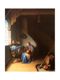 Interior with a Woman Eating Porridge Giclee Print by Gerard Dou