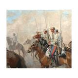 Cossacks, 1910S Giclee Print by Ivan Alexeyevich Vladimirov