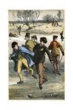 Ice Skating, 19th Century Giclee Print