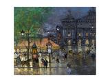 Konstantin Alexeyevich Korovin - Place De L'Opéra, Paris Digitálně vytištěná reprodukce