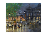 Place De L'Opéra, Paris Giclee Print by Konstantin Alexeyevich Korovin