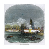 The Old Harbour of Barcelona, Catalonia, Spain, C1880 Giclee Print