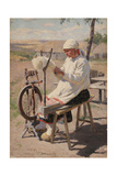 The Spinner, 1895 Giclee Print by Sergei Arsenyevich Vinogradov