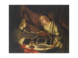 Esau and Jacob Giclee Print by Matthias Stomer