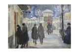 Moscow Street, 1922 Giclee Print by Sergei Arsenyevich Vinogradov