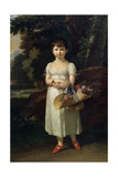 Portrait of Amelia Oginski, Late 18th or Early 19th Century Giclee Print by Francois-xavier Fabre