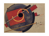 Study for a Poster, 1920 Giclee-trykk av El Lissitzky