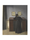 Ida Standing at a Desk Giclee Print by Vilhelm Hammershoi