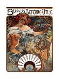 Biscuits Lefevre-Utile, 1896 Giclee Print by Alphonse Mucha