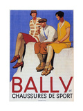 Bally Sports Shoes, 1928 Giclee Print by Emil Cardinaux