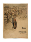 Help Famine Victims (Poster Desig), 1899 Giclee Print by Sergei Arsenyevich Vinogradov