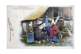 Native Costume of Pont Audemer, Normandy, 1902 Giclee Print