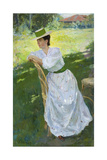 Portrait of a Woman (En Plein Ai), 1899 Giclee Print by Sergei Arsenyevich Vinogradov