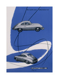 Poster Advertising the Porsche 356, 1955 Giclee Print