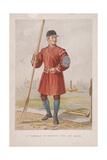 Waterman in Doggett's Coat and Badge, (C1860) Giclee Print