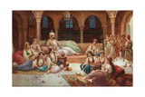 In a Harem Giclee Print by J. G. Delincourt