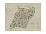 Map of Moscow, 1824 Giclee Print by Georges Lecointe De Laveau