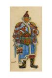 Oriental Costume Design Giclee Print by Léon Bakst