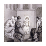 The Child Jesus in the Temple, 19th Century Giclee Print