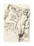 Prostitutes Giclee Print by Boris Dmitryevich Grigoriev