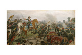 The Battle of Poltava Giclée-Druck von Ivan Alexeyevich Vladimirov