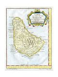 Map of Barbados, C1764 Giclee Print