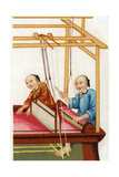 Chinese Silk Weaving, 20th Century Giclee Print