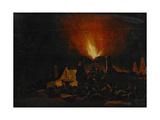Nightfire, 1660 Giclee Print by Daniel Vosmaer