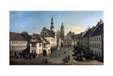 The Market Place in Pirna, C1752-C1755 Giclee Print by Bernardo Bellotto